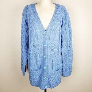 Kilronan Knitwear Merino Wool Irish Cardigan